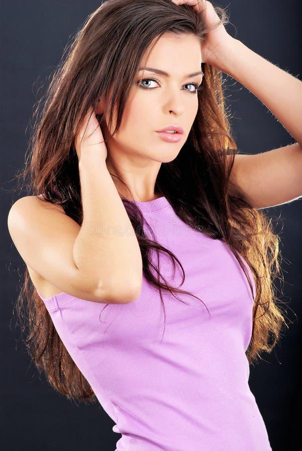 piękny brunetka portret fotografia royalty free