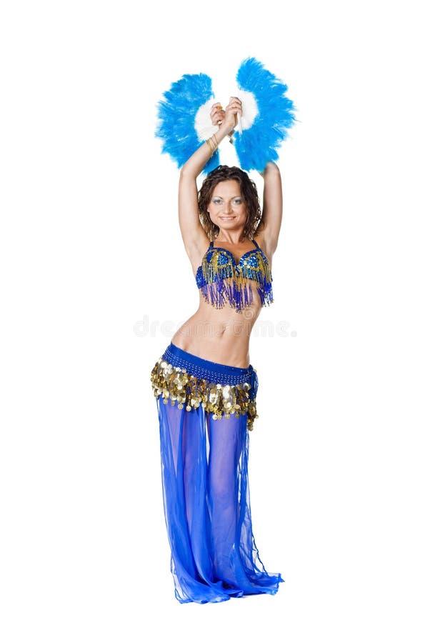 piękny brzucha tancerza portret zdjęcia stock