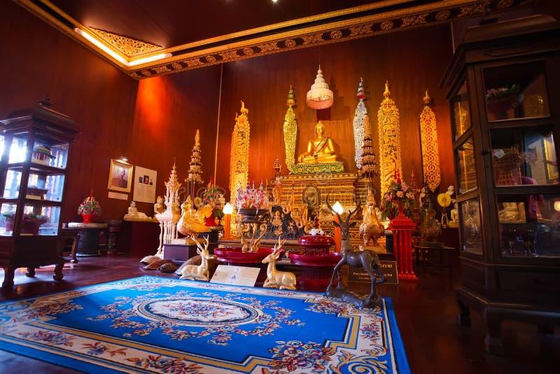 Piękny Buddha wizerunek jest w Hong Chiang, Luang Śpiewał Kaew muzeum obrazy royalty free