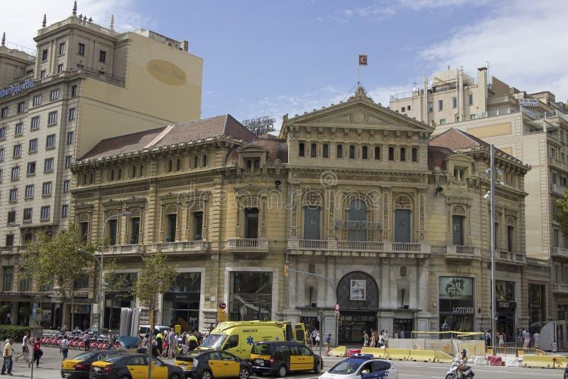 Piękny budynek na ulicach Barcelona obrazy stock