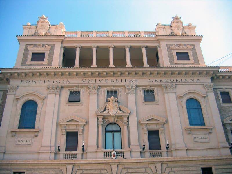 Piękny budynek Pontyfikalny Gregoriański uniwersytet zdjęcia royalty free
