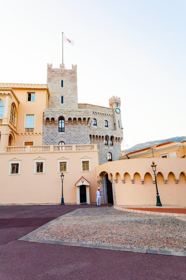 Piękny budynek Prince& x27; s pałac w Monaco obrazy stock