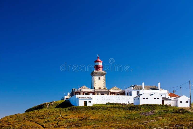 piękny cabo da latarni morskiej roca widok zdjęcie royalty free