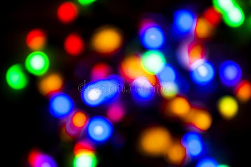 Piękny Cristmas bokeh kolorowy tło połóż tu twój tekst fotografia royalty free