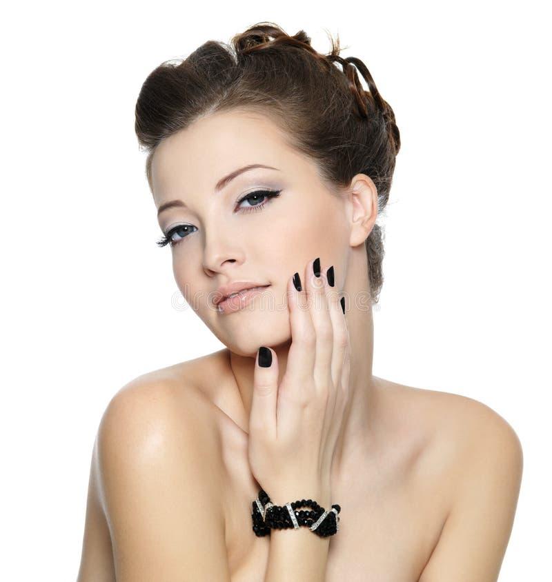 piękny czarny splendor przybija kobiety obraz stock