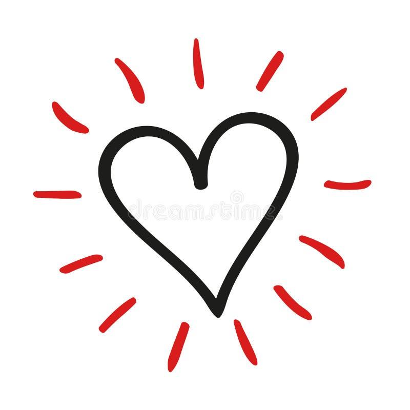Piękny czerwony serce - wektor ilustracji