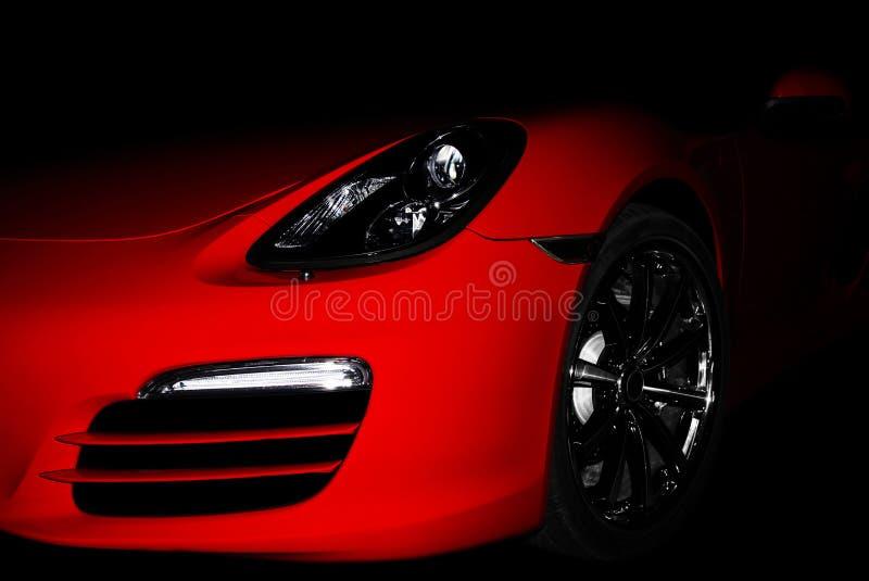 Piękny czerwony sportcar obrazy royalty free