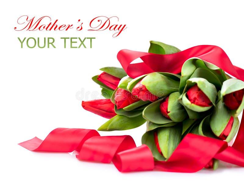 Piękny czerwony tulipanu bukiet zdjęcia royalty free
