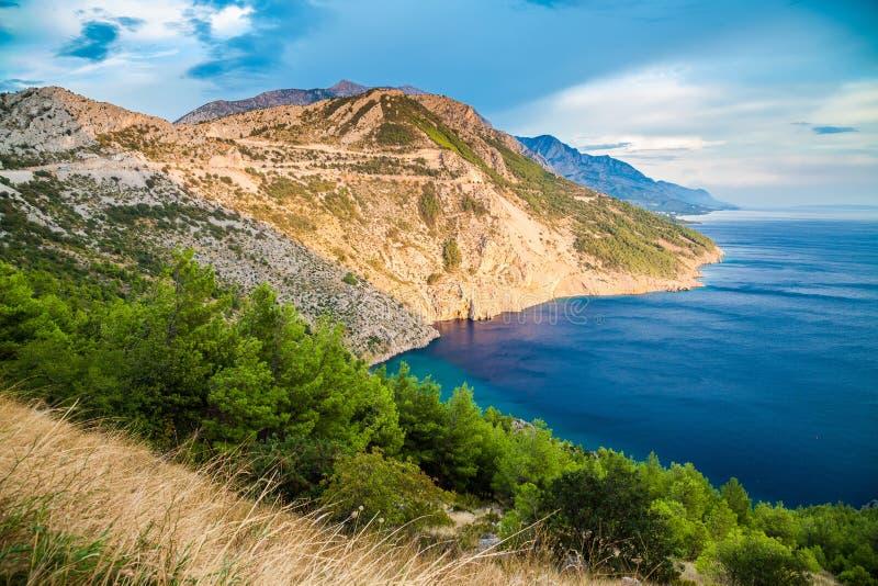 Piękny Dalmatyński wybrzeże, Makarska Riviera zdjęcie stock