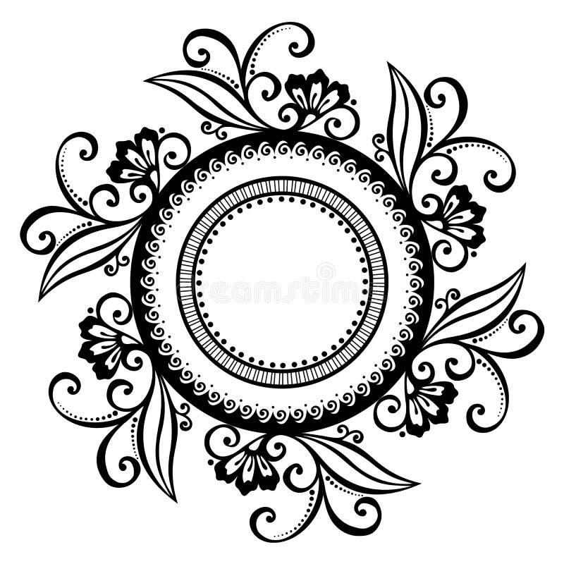 Piękny Deco Kwiecisty okrąg (wektor) ilustracja wektor