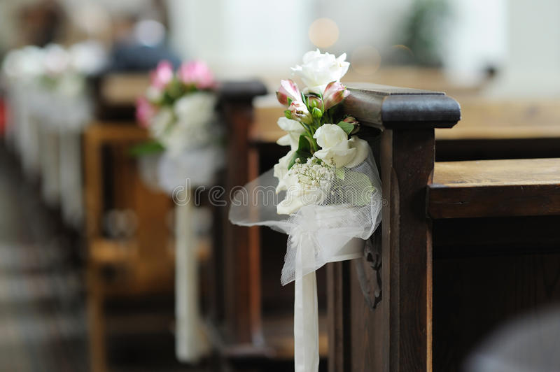 piękny dekoraci kwiatu ślub zdjęcie stock
