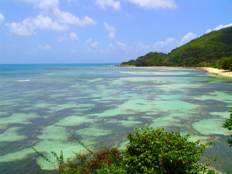 piękny dna krajobrazu oceanu seychelle zdjęcia stock