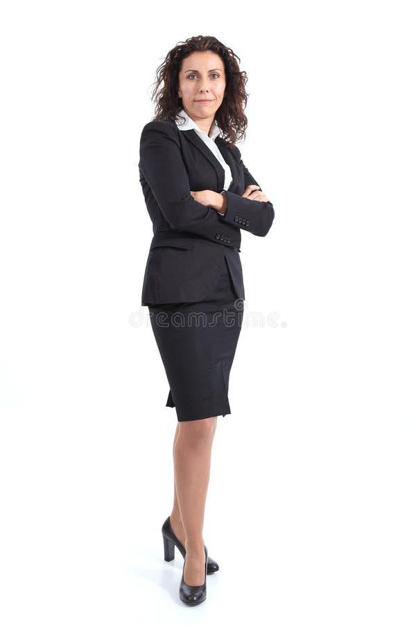 Piękny dojrzały bizneswomanu ono uśmiecha się fotografia royalty free