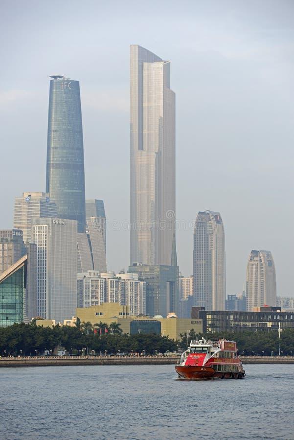 Piękny drapacz chmur w Guangzhou, porcelana zdjęcia royalty free
