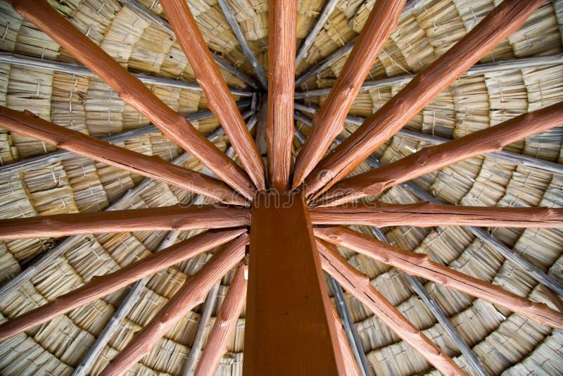 Piękny drewniany dach zdjęcia stock