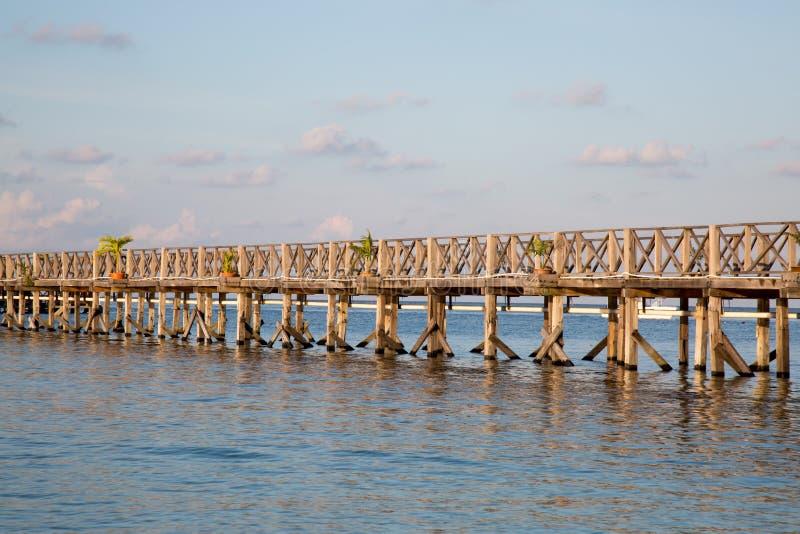 Piękny drewniany most zdjęcie stock