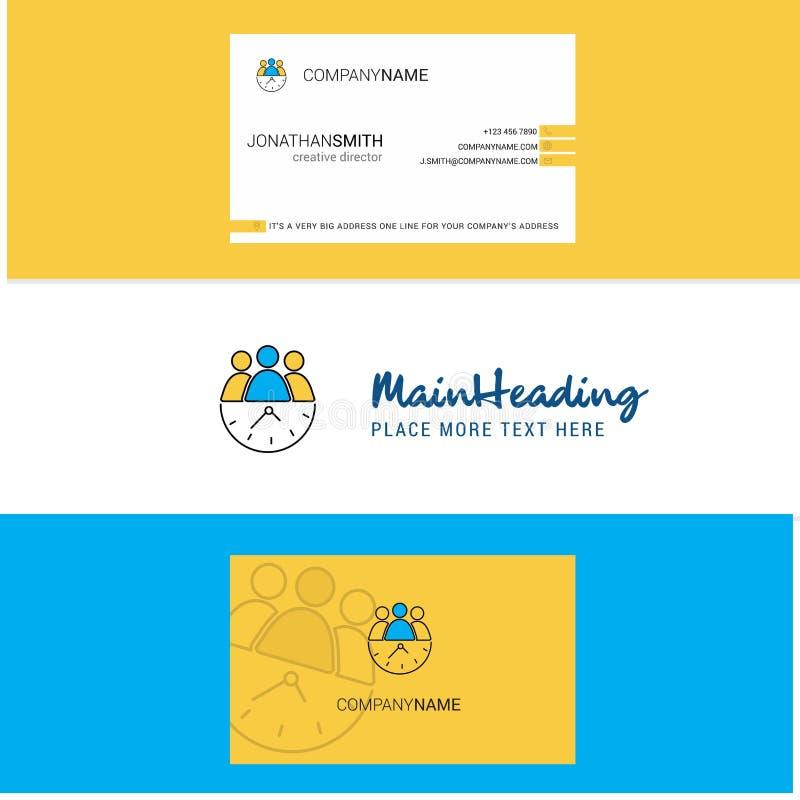 Piękny drużyna logo, wizytówka na czas i pionowo projekta wektor ilustracja wektor