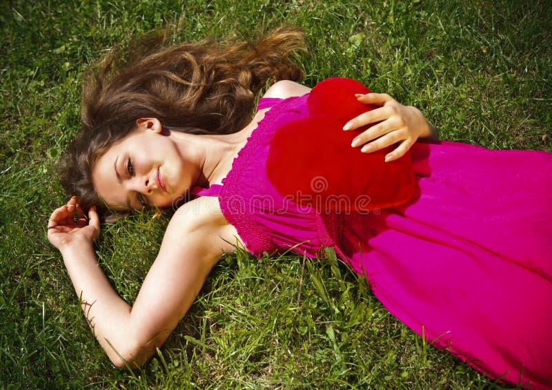 piękny dzień dziewczyny kierowy s valentine fotografia royalty free