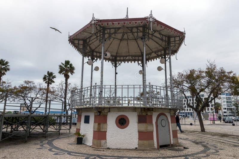 piękny dziejowy gazebo Faro miasto zdjęcie royalty free