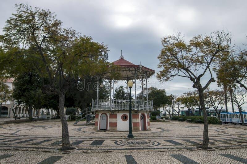 piękny dziejowy gazebo Faro miasto obrazy royalty free