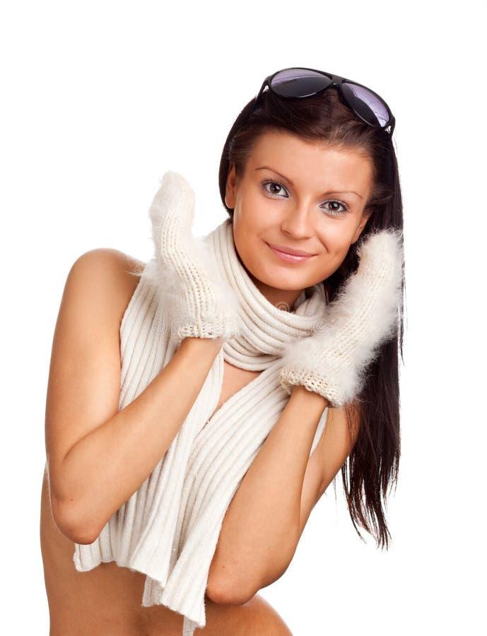 piękny dziewczyny mitynki biel obrazy stock