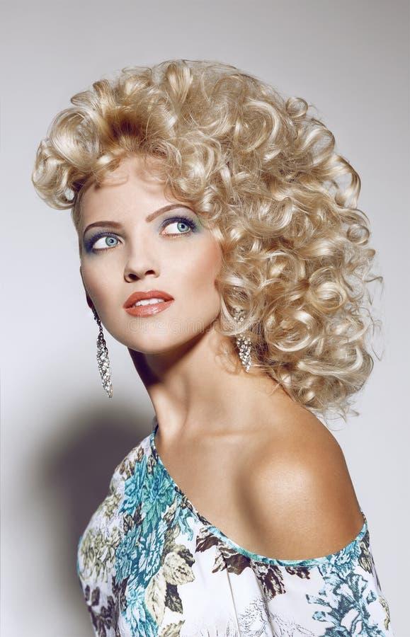 piękny dziewczyny włosy portret zdjęcie royalty free