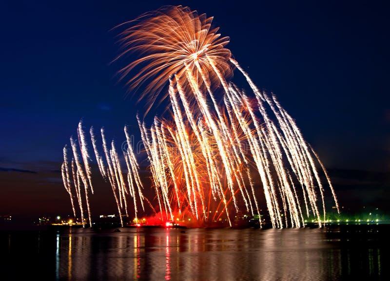 piękny fajerwerk zdjęcia royalty free