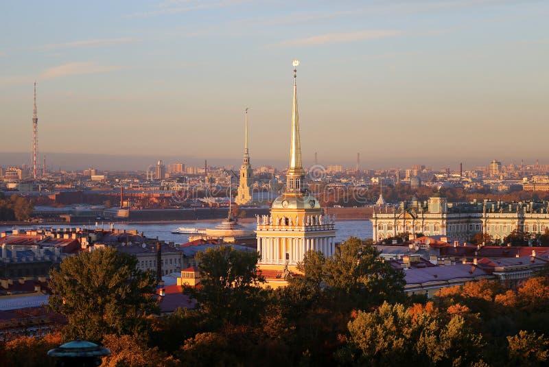 Piękny fotografia widok od above St Petersburg zdjęcia royalty free