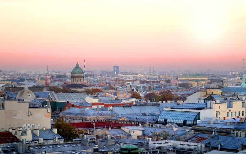Piękny fotografia widok od above St Petersburg obrazy stock