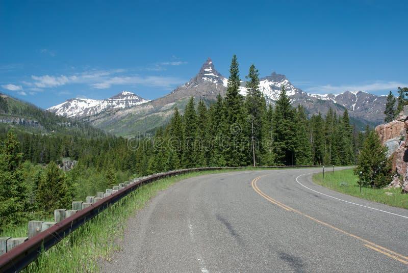 Piękny góra krajobraz, Wyoming, usa obraz stock