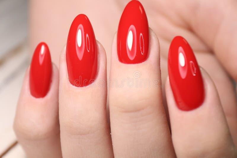 piękny gel laki manicure na textured modnym tle obraz royalty free