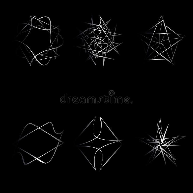 Piękny geometryczny wzór gra główna rolę ikony royalty ilustracja