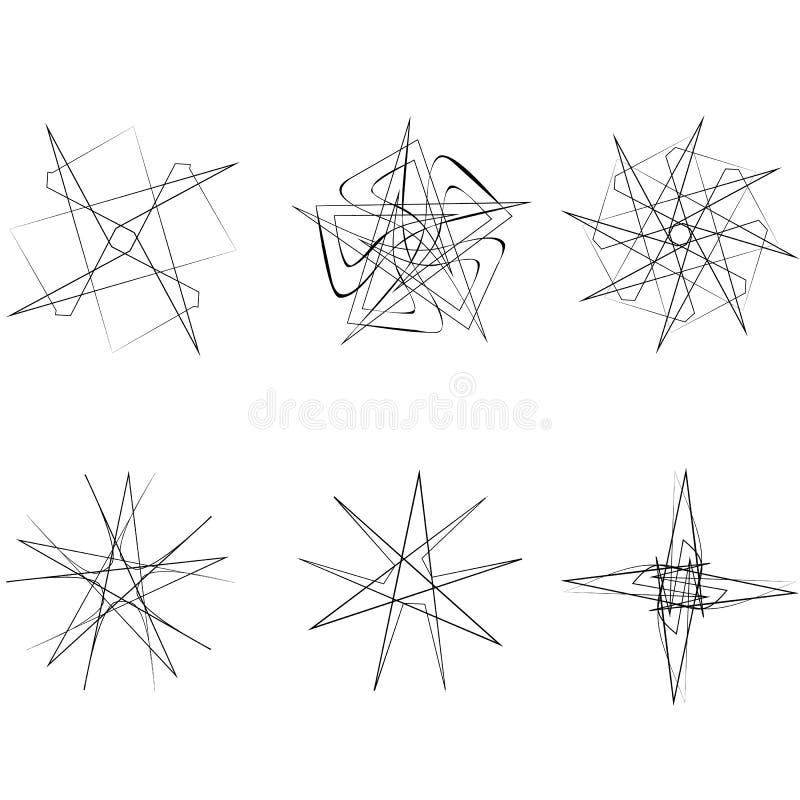 Piękny geometryczny wzór gra główna rolę ikony ilustracja wektor