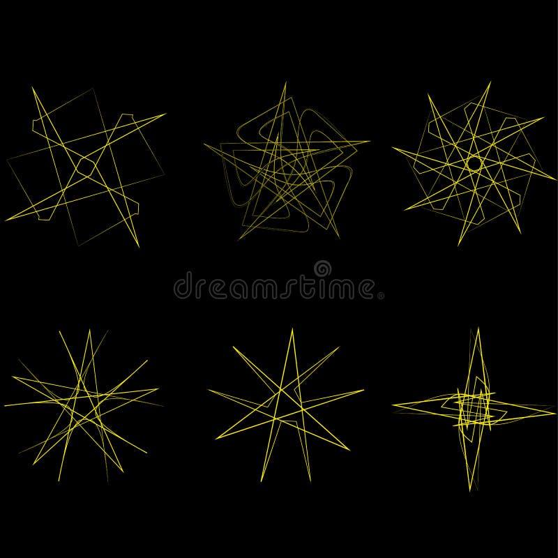 Piękny geometryczny wzór gra główna rolę ikony ilustracji
