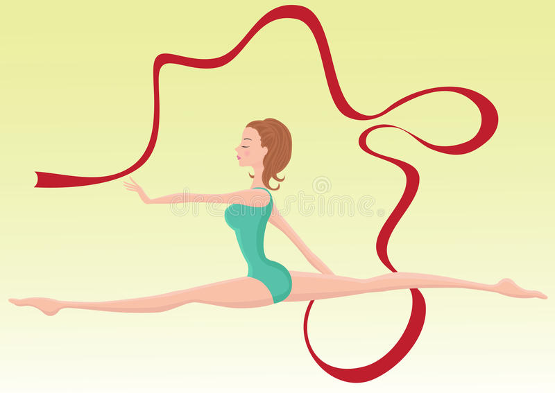 Piękny gimnastyczki spełniania faborek