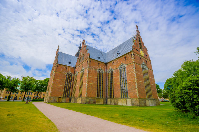 Piękny gothic kościół w Kristianstad, Szwecja zdjęcia stock