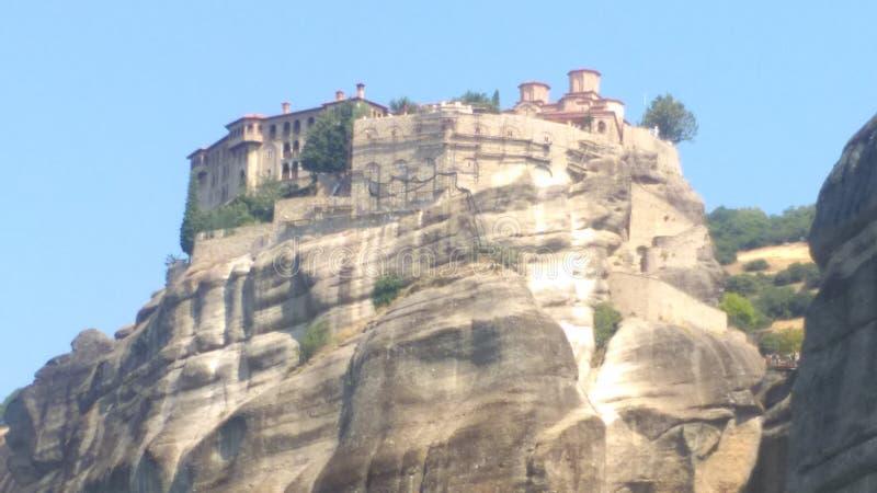 Piękny Grecja monaster zdjęcie royalty free
