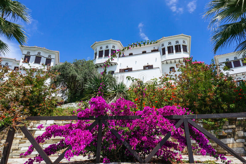 Piękny Grecki kurort fotografia royalty free