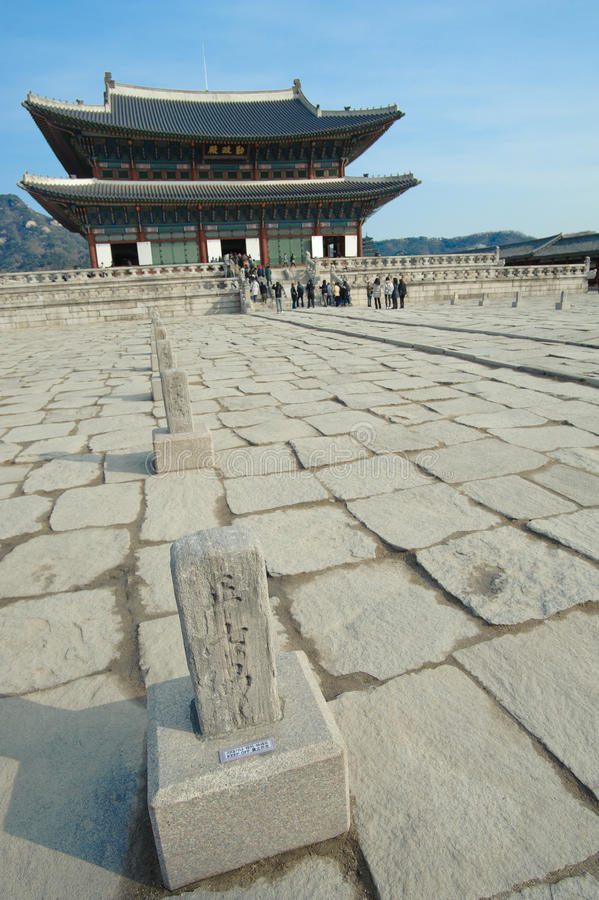 piękny historii Korea kyongbok krajobrazu pałac zdjęcie stock