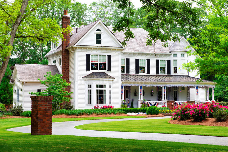 Piękny historyczny, tradycyjny dom, zdjęcie stock