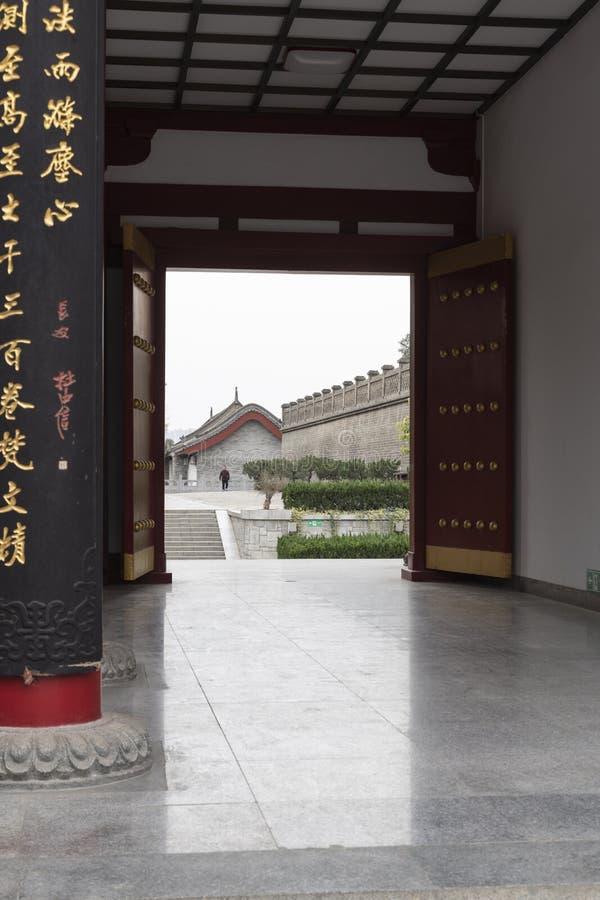 Piękny i antyczny budynek Pagodowy Świątynny Xian kompleks - Imagen fotografia royalty free