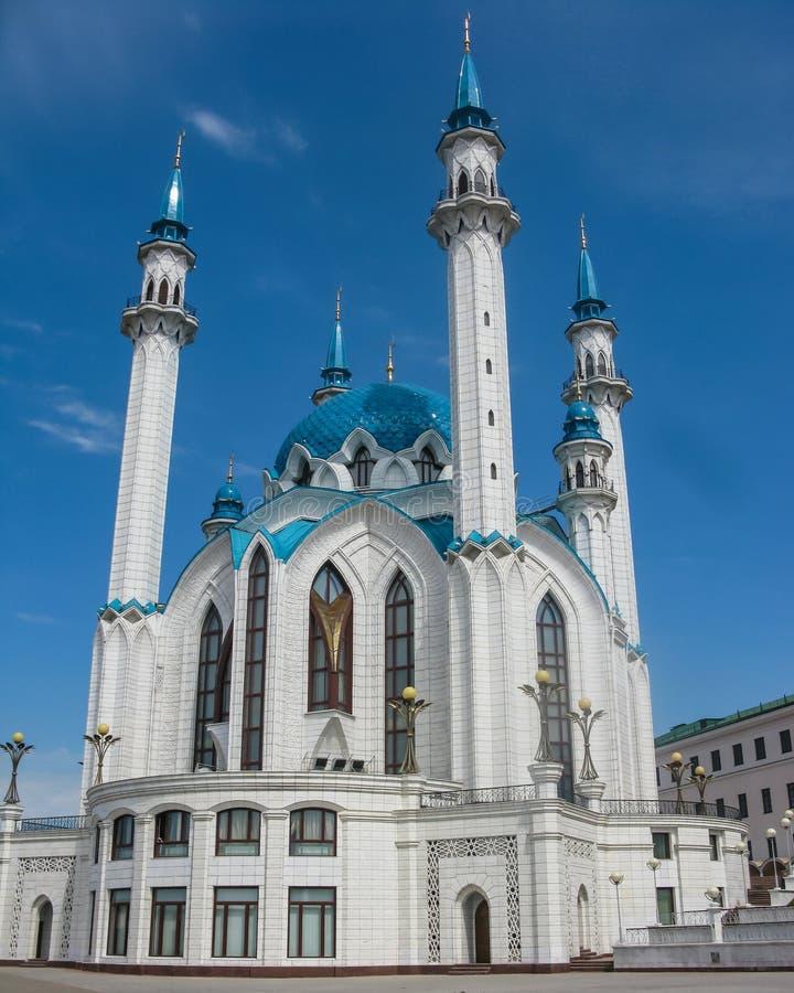 Piękny i wyśmienity widok Kula Sharif meczet Kazan miasto, Tatarstan, Rosja zdjęcie stock