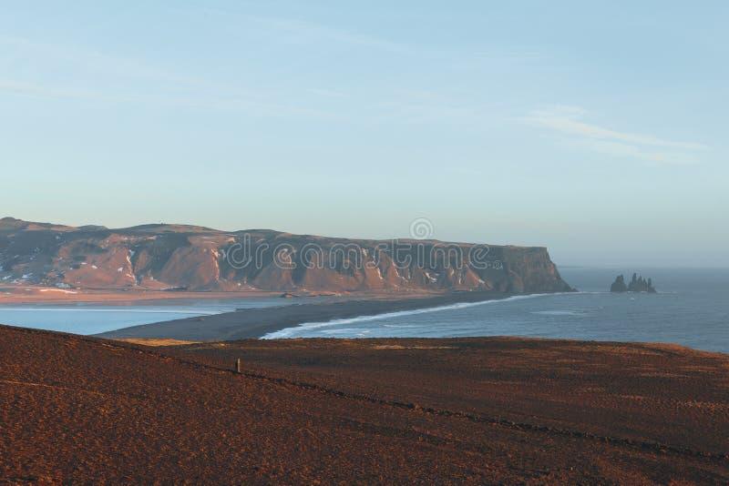 piękny icelandic krajobraz z nadmorski obraz stock