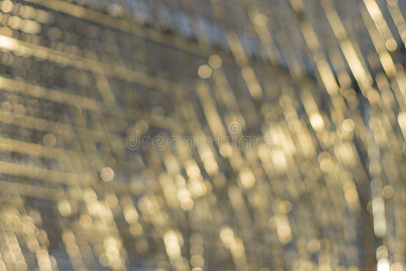 Piękny iskrzasty bokeh od 6 apertury abstrakta bladed tła obrazy stock