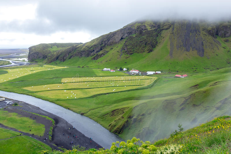 Piękny islandic krajobraz E zdjęcia royalty free