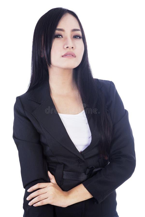 Piękny istny bizneswoman zdjęcie royalty free