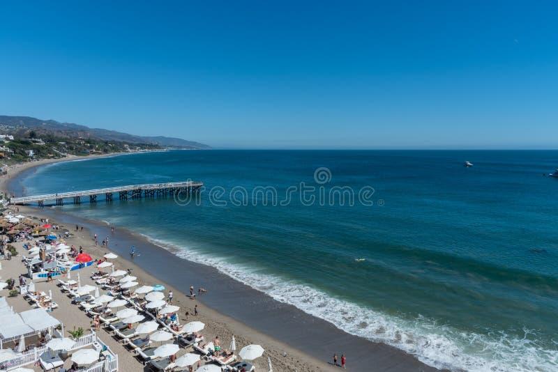 Piękny jasny letni dzień przy raj zatoczką, Malibu, Kalifornia zdjęcie royalty free