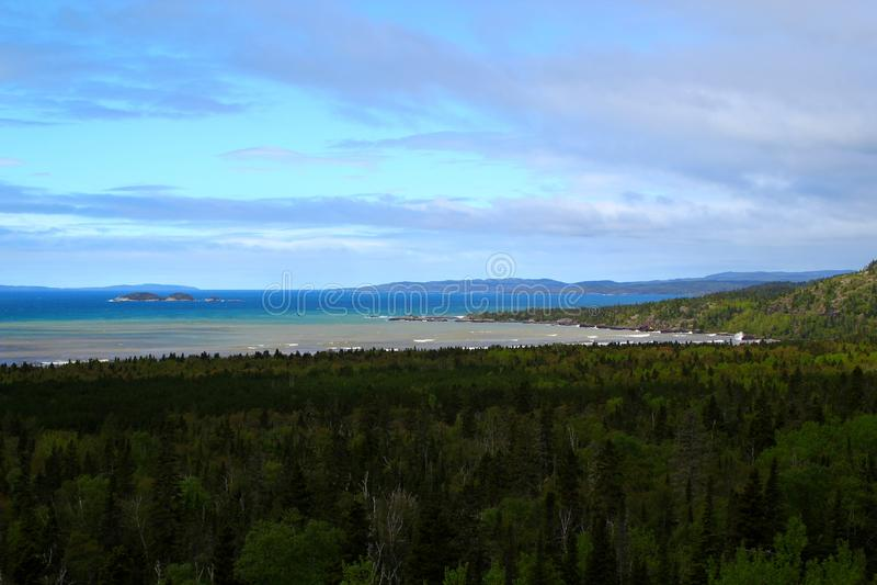 Piękny jeziorny przełożony w Ontario, Kanada/ fotografia royalty free