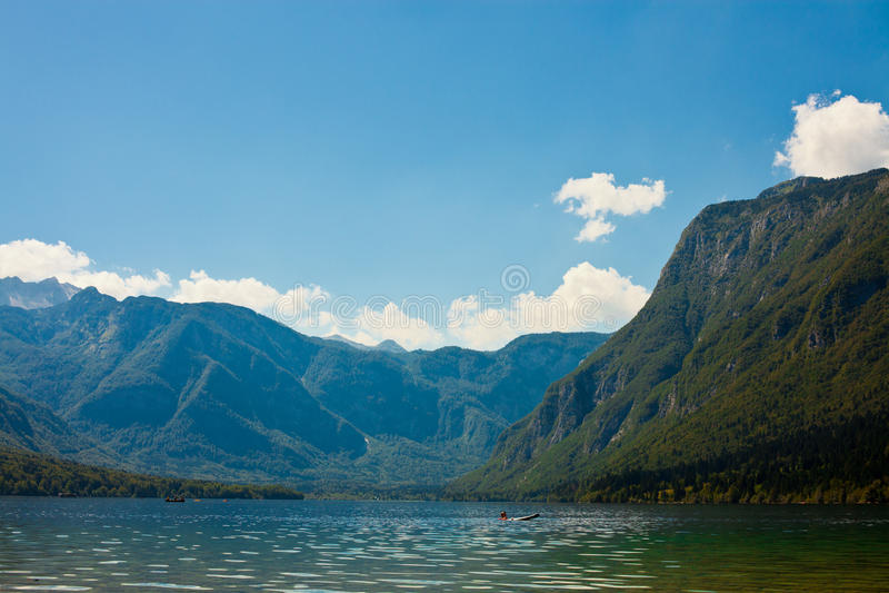 Piękny jezioro w Słoweńskich Alps obrazy royalty free