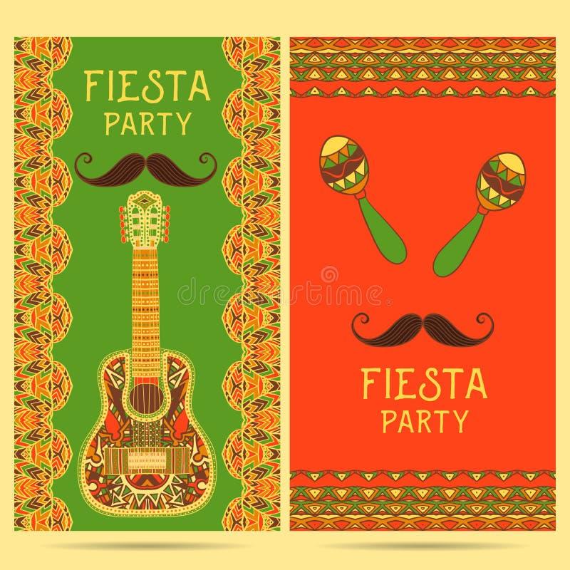 Piękny kartka z pozdrowieniami, zaproszenie dla fiesta festiwalu ilustracji